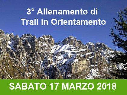 3° allenamento invernale di Trail in orientamento: Versasio (lecco)