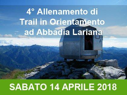 4° allenamento invernale di Trail in orientamento: Abbadia Lariana