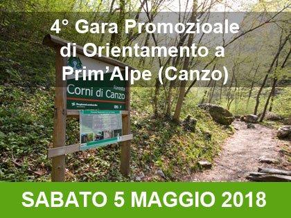 Gara promozionale di orienteering a Prim'Alpe (Canzo)