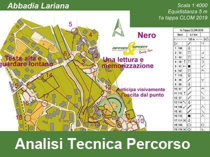 Analisi Tecnica del Percorso Nero di Orienteering della 1a tappa CLOM Abbadia Lariana